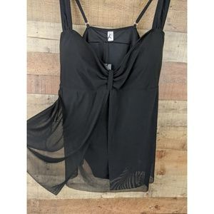 Jaclyn Smith Swimsuit One Piece Black Size 26W